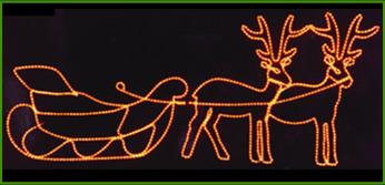 Decoraci n navide a cotillon dias de fiesta - Renos de navidad con luces ...